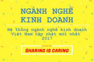 Hệ thống ngành nghề kinh doanh Việt Nam