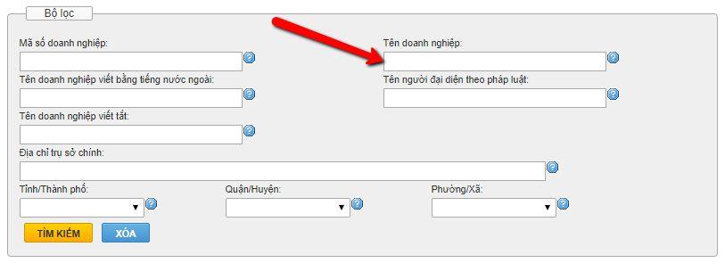 kiểm tra tên công ty tiếng Việt
