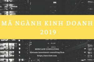 Mã ngành nghề đăng ký kinh doanh cấp 4 mới nhất 2018