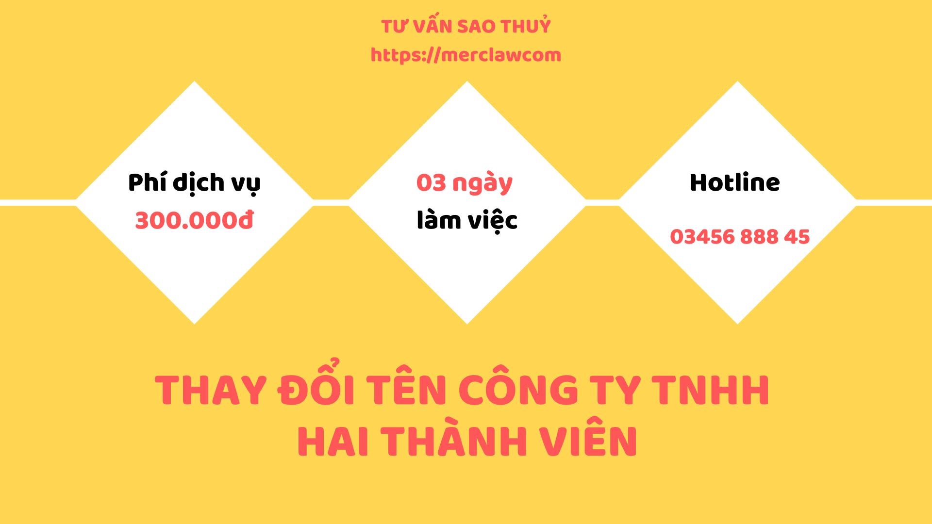 thay đổi tên công ty TNHH HTV